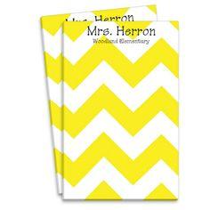Yellow Chevron Notepad