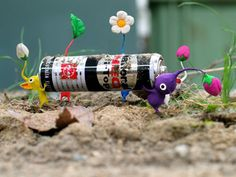 Pikmin 2 Art Concept. I love how all of these are made of clay and real objects
