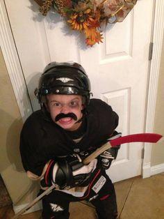 Scary Ducks hockey player on Halloween!