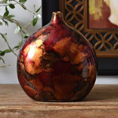 For entertainment Stand: Red Round Vase   Kirklands