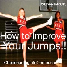 Would like to get some great tips to improve your jumps over the holiday break? Check out the CIC Jump Section at CheerleadingInfoCenter.com and get started