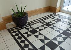 Black and White Tile Floor | Victorian Tiles Gosford Tiles