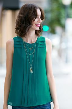 Love the color, not necessarily the high neckline
