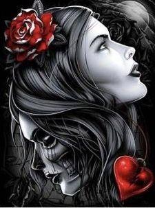 Paint by Number Kit - Mexican Catrina. by OurPaintAddictions Sugar Skull Mädchen, Sugar Skull Tattoos, Sugar Skull Artwork, Skull Girl Tattoo, Lowrider Art, La Muerte Tattoo, Zwilling Tattoo, Los Muertos Tattoo, Aztecas Art