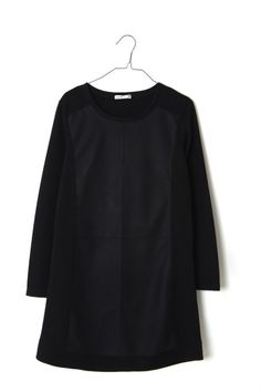 Vestido con aplicación polipiel de Lavand
