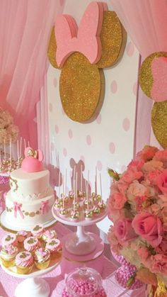I love Minnie Party Minnie Mouse Birthday Decorations, Minnie Mouse Theme Party, Minnie Mouse First Birthday, 2nd Birthday Party Themes, Minnie Mouse Baby Shower, Minnie Mouse Pink, Birthday Ideas, Minnie Golden, Birthday Letters