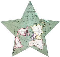 Home Decor - Office Decor - Gift Ideas - Antique star projection map. Find your antique map here http://www.mapsales.com/antique-wall-maps.aspx?flag=leftnav&utm_source=pinterest&utm_medium=pin&utm_campaign=caption