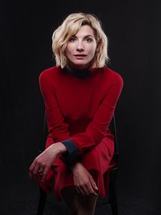 jodie whittaker dr who photoshoot Jodi Whittaker, Doctor Who Cast, Rose And The Doctor, British Celebrities, 13th Doctor, Doctor 13, Studio Portraits, Dr Who, Famous Women
