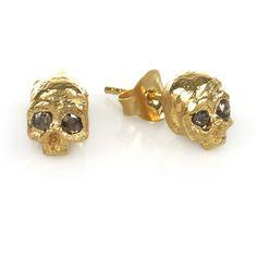 Bing Bang Jewelry Arc Studs Yellow Gold