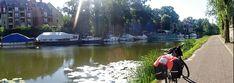 Juli_e_cycle sur les chemins de Halage de la Sarre: entre patrimoine urbain, industriel et culturel. Ici, les beaux canaux de Sarreguemines. #velo #bicyclette #veloelectrique #ebike #vae #tourdefrance #cyclingtour #cyclotourisme #RestartCycleTourism #france #frankreich #alsace #alsacebossue #sarre #saar #sarreguemines #canaux #cyclingtour #juli_e_cycle #velafrica