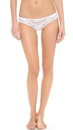 f3dc5022c7 L Agent by Agent Provocateur Women s Vanesa Mini Briefs  Embroidery  accentuates the dainty look of these L Agent by Agent Provocateur briefs