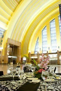 Event held in rotunda at the Cincinnati Museum Center at Union Terminal.