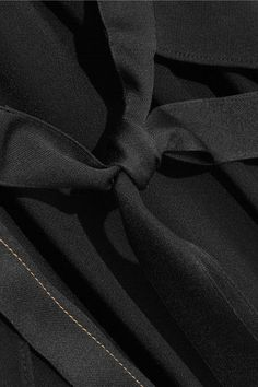 Helmut Lang - Tie-back Crepe Midi Dress - Black - x small