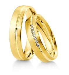 Breuning Trouwringen | Inspiration collectie gouden ringen | 5,5mm briljant bagette 0.105ct verkrijgbaar in 8,14 en 18 karaat | 48041570 / 48041580 OOK in wit geel en rood goud verkrijgbaar of in 2 kleuren goud #trouwringen #breuning