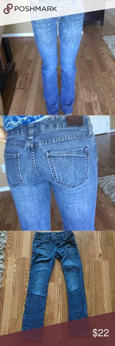 Express jeans I guess I would consider them bootcut? Slight stretch. 99%cotton 1% spandex. Size 2r Express Jeans Boot Cut