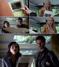 """""""Looks like dairy queen's been following me for a long time."""" Emma, Hook and Regina - 4 * 6 """"Family Business."""" #CaptainSwan"""