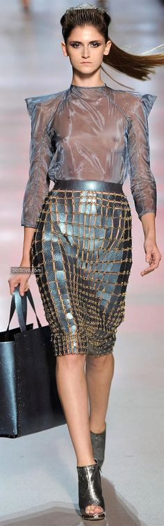 Manish Arora for Paco Rabanne SS 2012 (No bra or underwear? How uncomfortable must that be??)