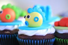 Kai's Under the Sea Themed Party - Cupcakes