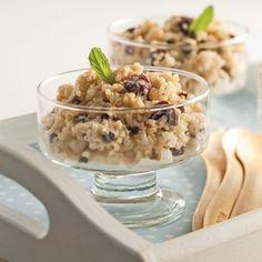 Pouding au quinoa épicé Nutrition, Couscous, Quinoa, Cereal, Oatmeal, Gluten Free, Pudding, Snacks, Healthy Eating Recipes