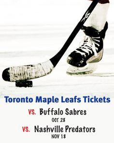 $109 and Up for a Ticket to the Toronto Maple Leafs vs. Buffalo Sabres on October 28, 2014 OR Nashville Predators on November 18, 2014 at the ACC