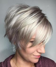 Long Choppy Silver Pixie