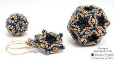 Fiberoptic Dodecahedron Set - Cindy Holsclaw - Bead Origami