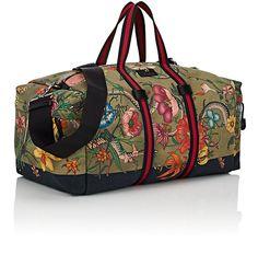 Gucci Floral- & Animal-Print Weekender Bag | Barneys New York