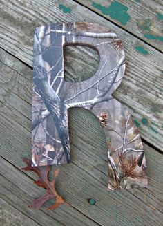 Decorative Wood LettersRealtree Camo by MommyKakesDesigns on Etsy, $12.00