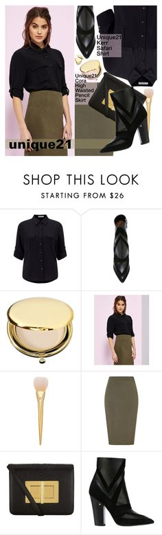 """""""unique21: Casual Office"""" by pokadoll ❤ liked on Polyvore featuring Lipsy, Laurence Dacade, Estée Lauder, Tom Ford, Diane Von Furstenberg and unique21"""