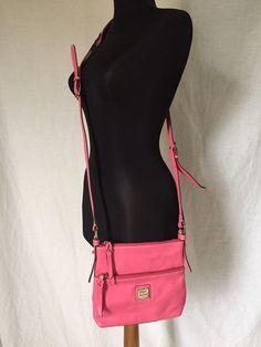 Dooney & Bourke Pink Cross Body Leather Small Satchel Bag 9 x 8 x 1.7 #DooneyBourke #MessengerCrossBody