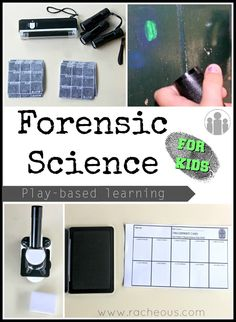 Forensic Science for Kids play-based learning, resources, printables and learning unit forensics