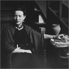 Simone de Beauvoir, Paris, 1949. Photo: Elliott Erwitt.