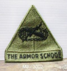 US Army The Armor School Embroidered Patch (NOS)