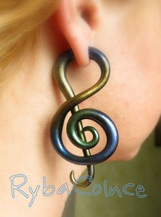 Fake ear tentacle gauge  Faux gauge/ Gauge earrings/ by RybaColnce, $24.00