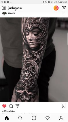 Tatuaggio - Tatuaggio The Effective Pictures We Offer You About diy furniture A quality picture can tell you m - Aztec Tattoos Sleeve, Viking Tattoo Sleeve, Realistic Tattoo Sleeve, Forearm Sleeve Tattoos, Best Sleeve Tattoos, Tattoo Sleeve Designs, Tribal Tattoos, Valkerie Tattoo, Forarm Tattoos