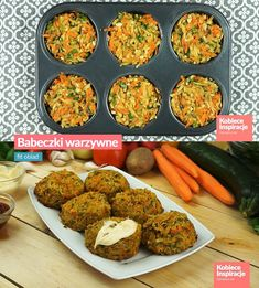 Babeczki warzywne z piekarnika - FIT OBIAD Vegetable Muffins, Diet And Nutrition, Tandoori Chicken, Food Porn, Good Food, Food And Drink, Lunch, Healthy Recipes, Dinner