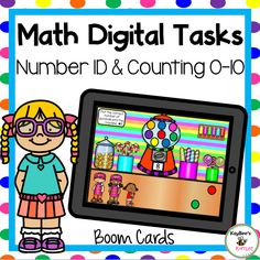 Number Recognition and Counting Objects Boom Cards Two Step Equations, Number Identification, Learn To Count, Number Words, Counting Activities, Number Recognition, Word Problems, Read Aloud, Task Cards