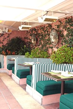 Hotel Pretty: Beverly Hills Hotel's Cabana Cafe | the pretty crusades   RePinned by : www.powercouplelife.com