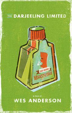 The Darjeeling Limited (2007) ~ Minimal Movie Poster by Matt Chase #amusementphile