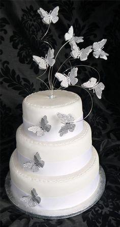Handmade Flutter Butterfly Glitter Cake Topper - Wedding Birthday Anniversary | eBay