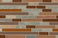 BuildDirect – Mosaic Tile - Premium Blends Pattern Series  – Copper - Close View