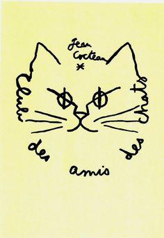 """Logo of """"Club des amis des chats"""" by Jean Cocteau"""