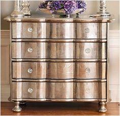 Beautiful! -metallic paint on old wood furniture. by kathleen