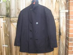 US Navy Style Peacoat Size 46 Regular  Made by by PatsyTexasRose