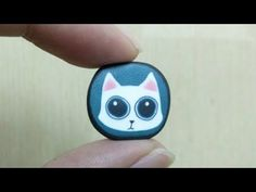 [polymer clay tutorial] How to make cat /cane /귀여운 아기 고양이 만들기 폴리머클레이
