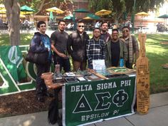 These are the men of Delta Sigma Phi at one of Woodbury University events.  With Henry Taylor, Brandon Roque and many others.