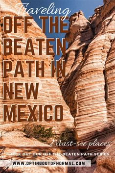 Looking for a great road trip to add to your travel bucket list? There are some amazing things to do in New Mexico. Don't just visit the popular places like Albuquerque or Santa Fe. We gathered a unique list of off the beaten path places you must see. New Mexico Road Trip, New Mexico Vacation, Travel New Mexico, Us Road Trip, Tennessee Vacation, New Mexico Camping, Cruise Vacation, Disney Cruise, 7 Places