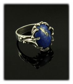 Turquoise Jewelry Ring Lapis Lazuli Ring by Nattarika - Bar Stud Earrings, Rose Gold Earrings, Gems Jewelry, Stone Jewelry, Body Jewelry, Jewlery, Daylight Ring, Lapis Lazuli Jewelry, Morganite Engagement