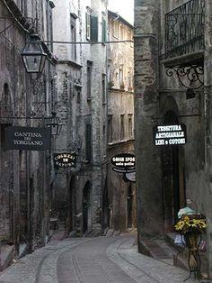 street in Spoleto, Umbria, Italy
