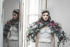 A Day in White Wedding editorial photoshoot Photo : La Femme Gribouillage Flowers : Lily Paloma Dress : Carnets de mariage Crown : Ikone Paris MUAH : Anne Vialle